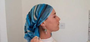 Tie a long, rectangular headscarf easily