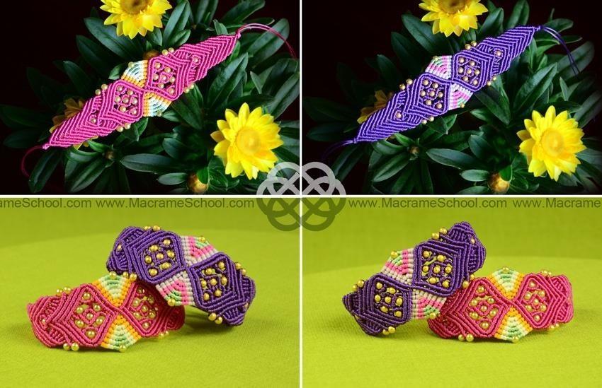 Macrame Sand Clock & Butterfly Bracelet