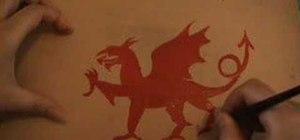 Paint a Welsh dragon