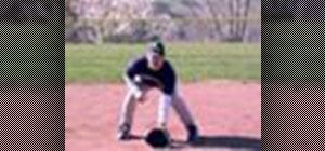 Use the infielder's ready position in baseball