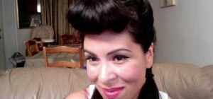 Create a retro and glamorous Bettie Page pompadour