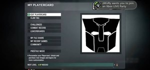 Build a Transformers logo as your emblem for Call of Duty
