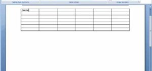 Work with tables in Microsoft Word 2007