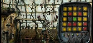 Solve the eight pointed star puzzle in the game Machinarium