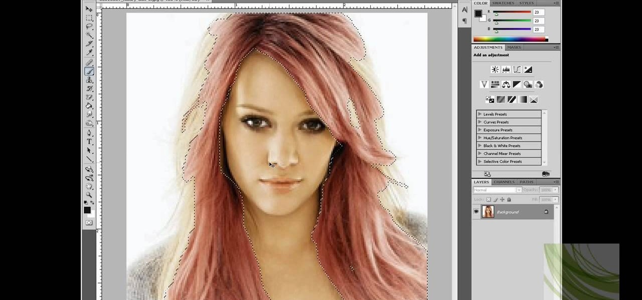 How To Change Hair Color In Adobe Photoshop Photoshop Wonderhowto