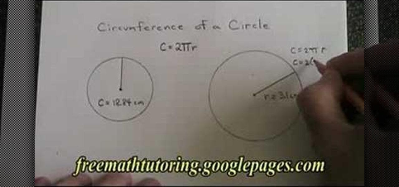 Circumference homework help