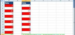 Add every other number in a range in Microsoft Excel