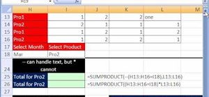 Use the SUMPRODUCT function in Microsoft Excel