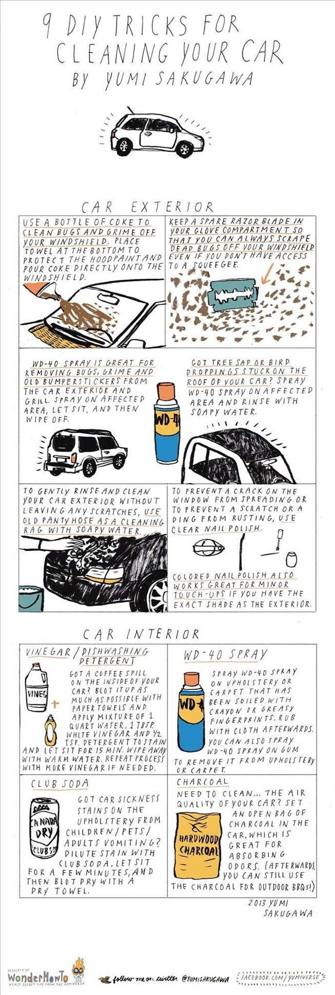9 Diy Tricks For Cleaning Your Car 171 The Secret Yumiverse