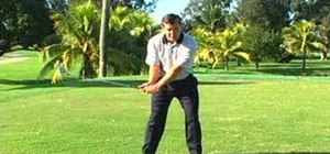 Use the delivery position for a golf swing