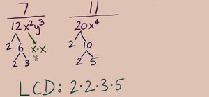 Find least common multiple in rational expressions
