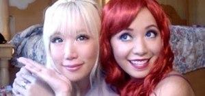Create a Disney Rapunzel and Ariel princess makeup look for Halloween