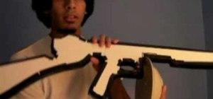 Make a Tommy gun movie prop