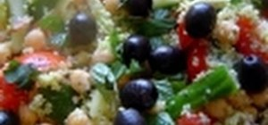 Make a couscous salad with tuna & summer veggies