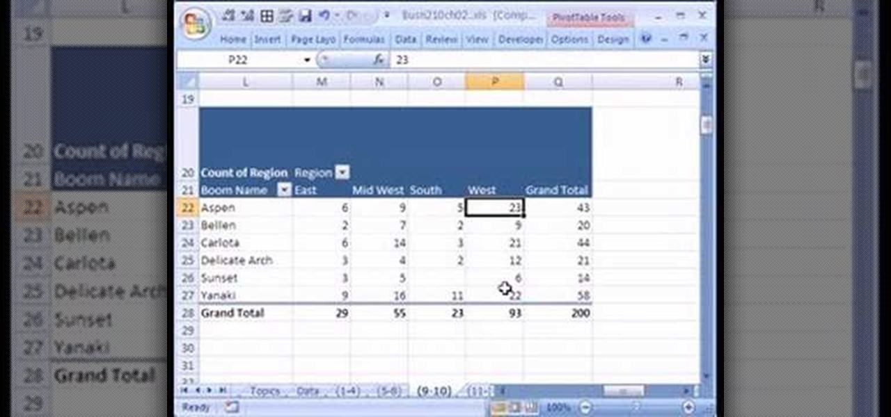 How To Cross Tabulate Categorical Data In Microsoft Excel