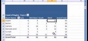 Cross tabulate categorical data in Microsoft Excel