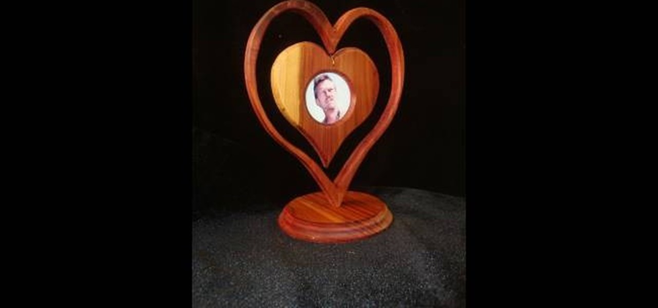 How to Make a heart picture frame using red cedar wood « Furniture ...