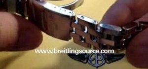 Resize a Breitling watch bracelet
