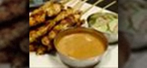 Make chicken satay-ser