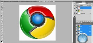 Make a professional Google Chrome logo in Photoshop