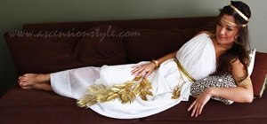Create a sexy drapey Greek goddess halloween costume
