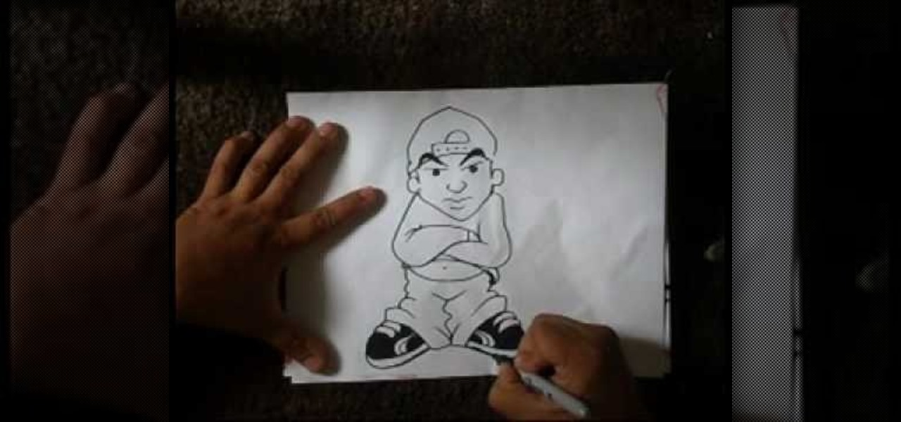 How to Draw a graffiti male character « Graffiti & Urban Art