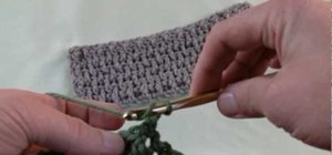 Crochet a crinkle stitch for right handers