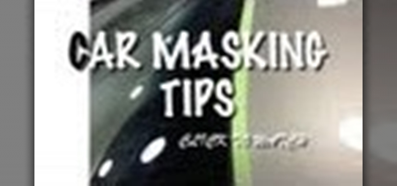 Mask a Windshield Molding Without Bridging the Paint