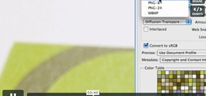 Use the Save for Web feature in Adobe Photoshop CS4 or CS5