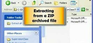 Zip and unzip files in Windows XP