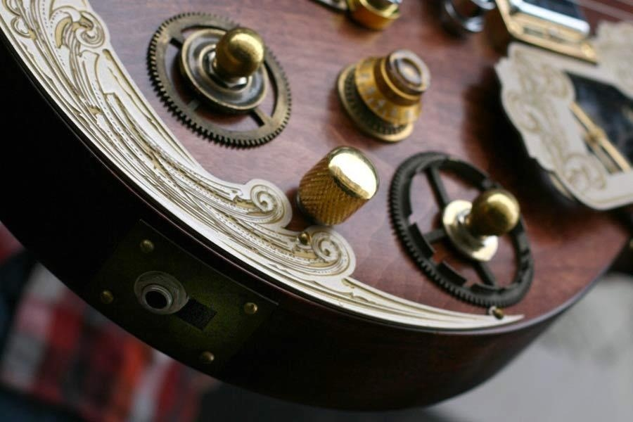 Beautiful Custom Steampunk Guitar