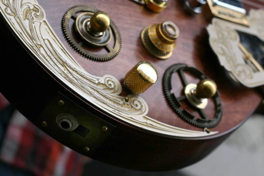 Beautiful Custom Steampunk Guitar