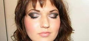 Apply a 3D smokey eye MAC makeup look