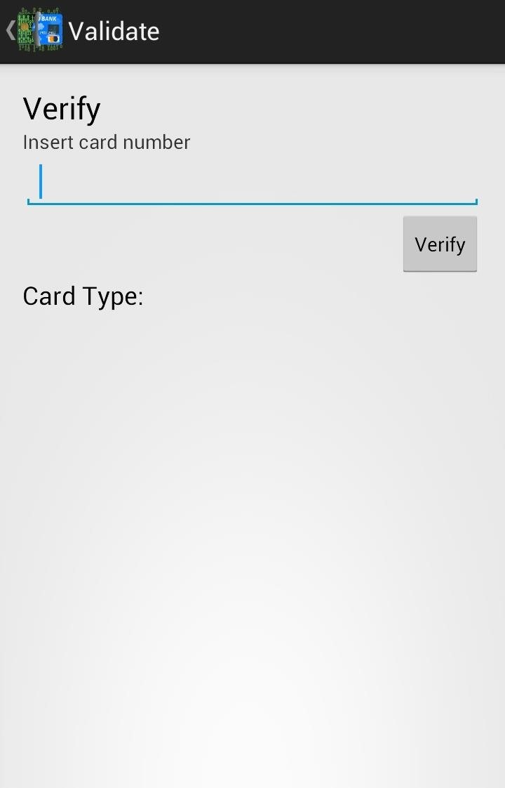 Getting A Card Number On Android
