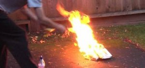 Make a homemade fire extinguisher with items from around the house
