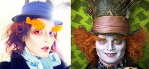 Apply the Mad Hatter Johnny Depp costume makeup