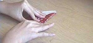 Fold an origami chopsticks holder