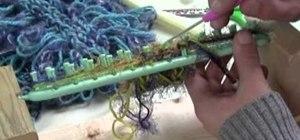 Knit a shag scarf using a knitting loom