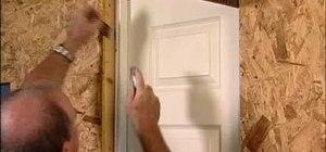Install a split jamb door