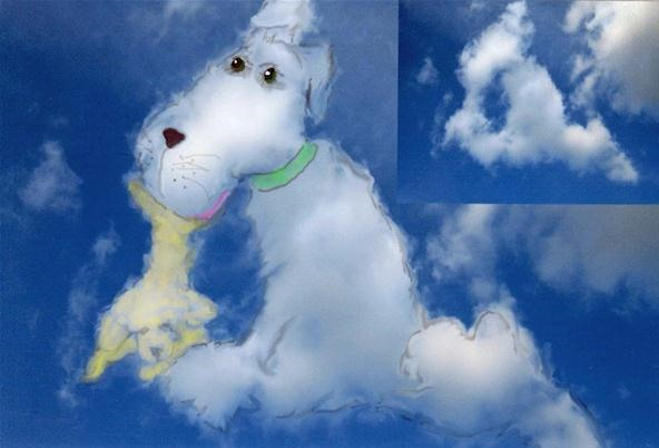 cloud art pup
