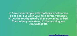 Quickly get rid of a pimple