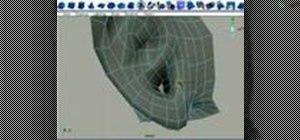 Model a human ear in Maya