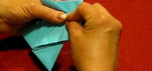 Fold an easy origami angel for Christmas