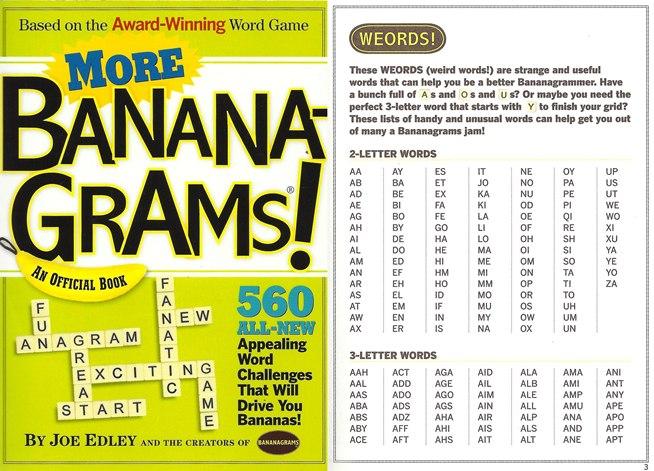 Bananagrams  Letter Words