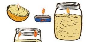4 Crafty Ways to DIY an Emergency Oil Lamp