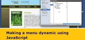 Create dynamic menus with JavaScript