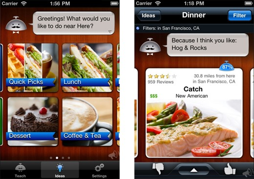 Alfred Knows Where You Want to Eat (iPhone App for Instant Restaurant Recommendations)