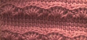 Crochet a scarf with a left-handed Afghan or Tunisian stich & a crochet shell