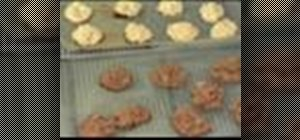 Make coconut and chocolate macaroons