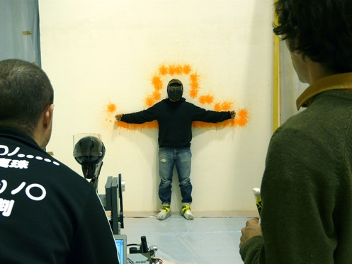 Graffiti Bot Tags With Paintball Bullets